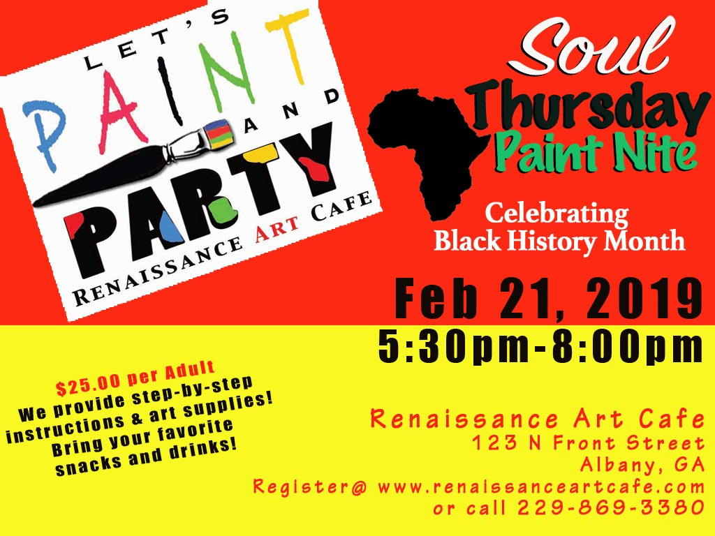 Soul Thursday Paint Night: Celebrating Black History Month