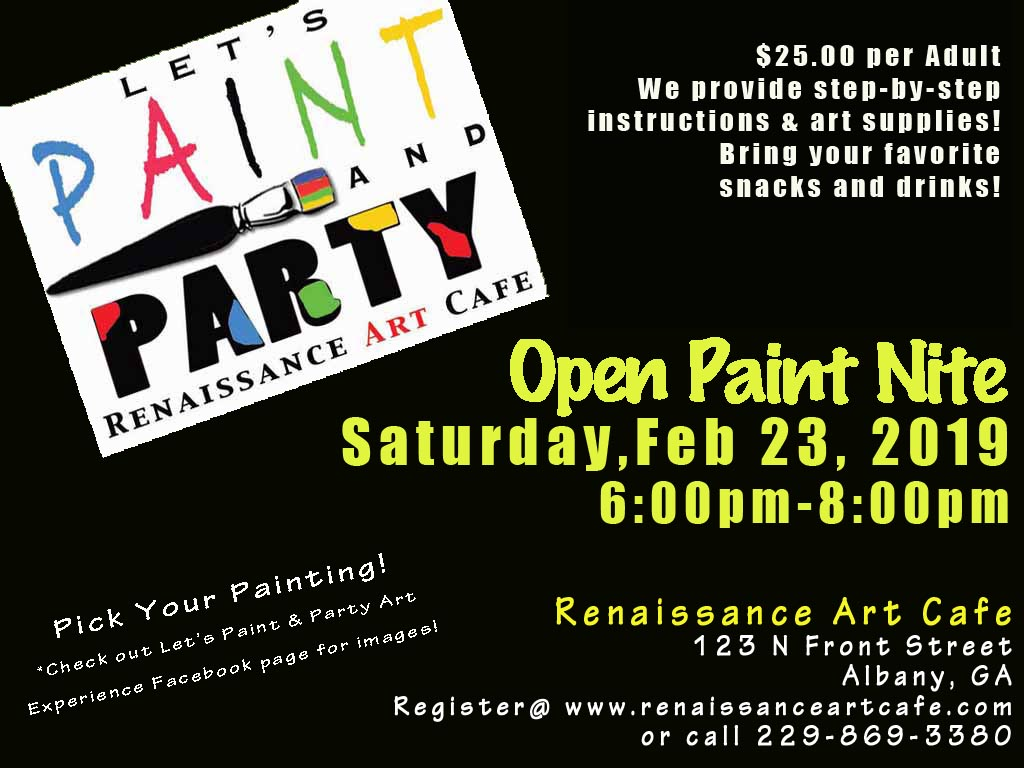 Open Paint Nite: Pick Your Painting