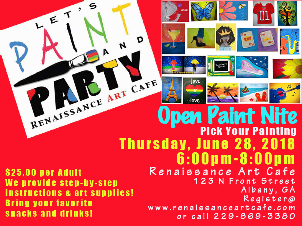 Open Paint Nite! Pick Your Painting