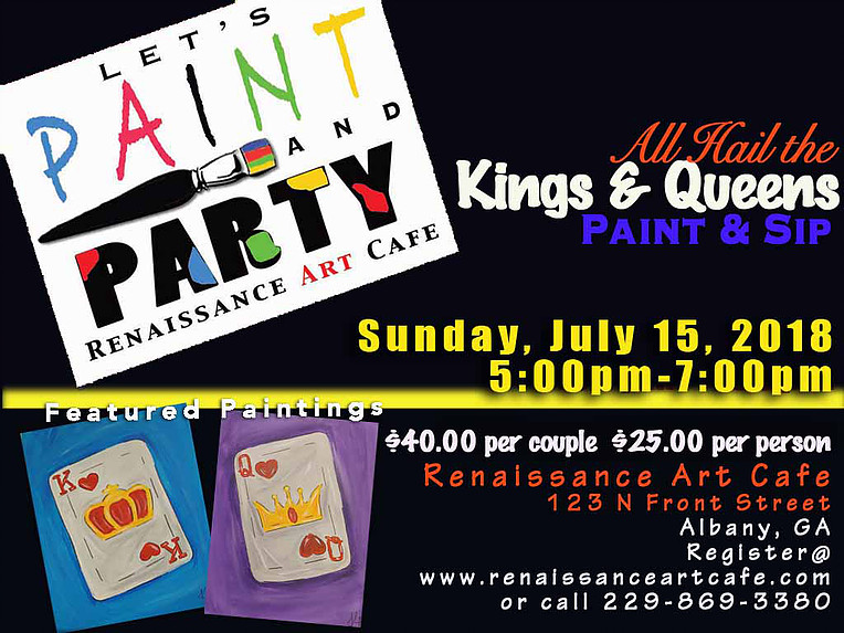 All Hail the Kings & Queens Paint & Sip Party