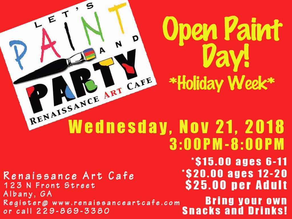 Open Paint Day: Holiday Week