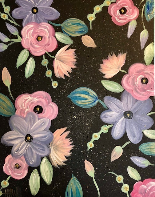 BS&BF: Abstract Flowers (Heritage of Hope Benefit!)
