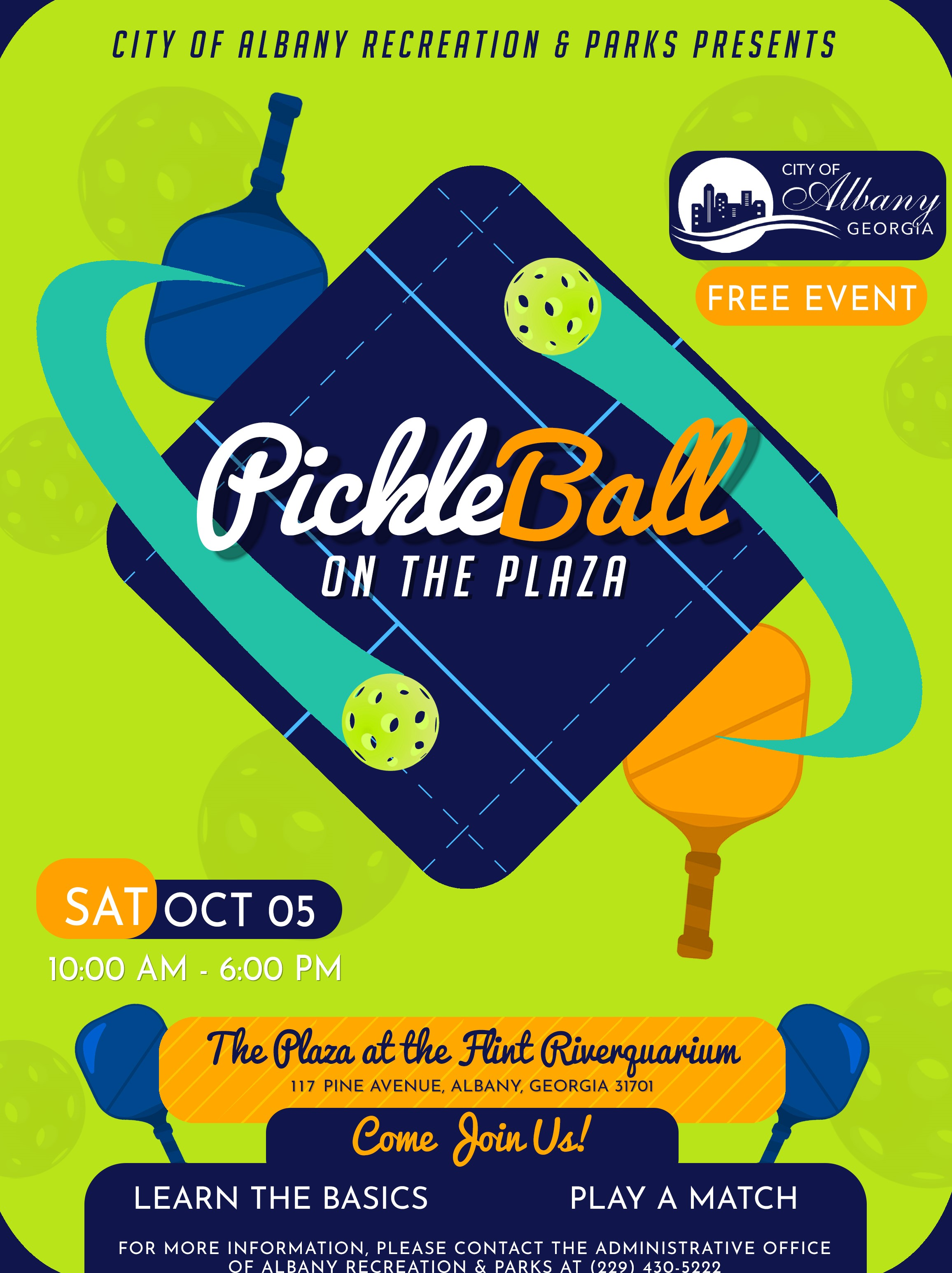 Pickleball on the Plaza