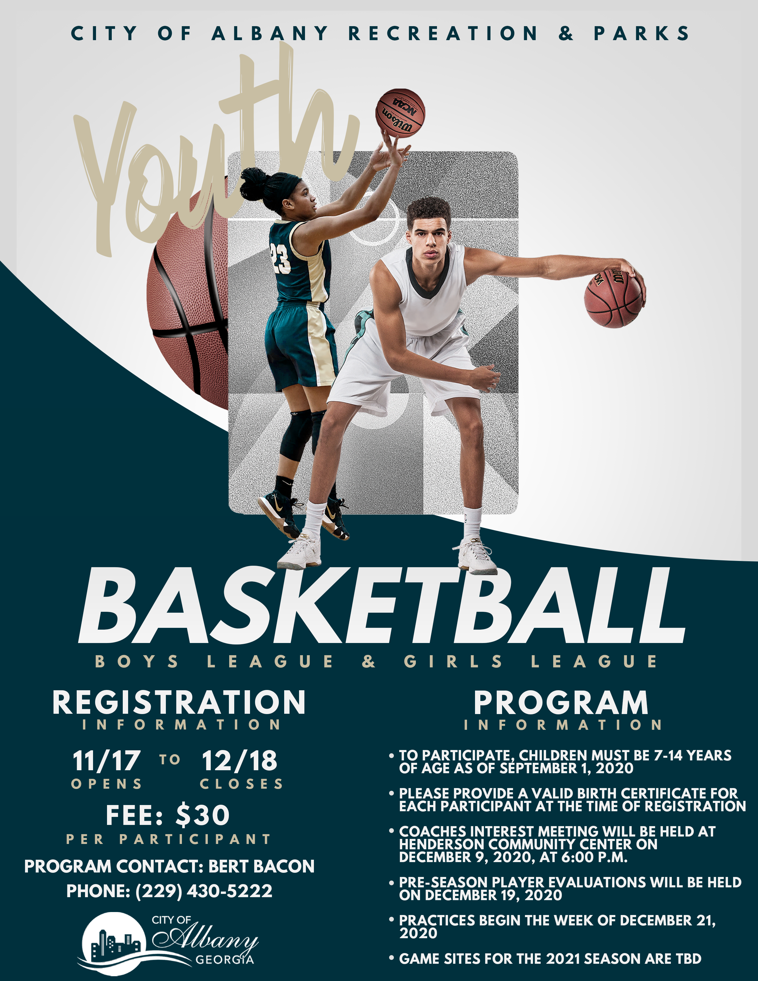 2021 Youth Basketball League Registration