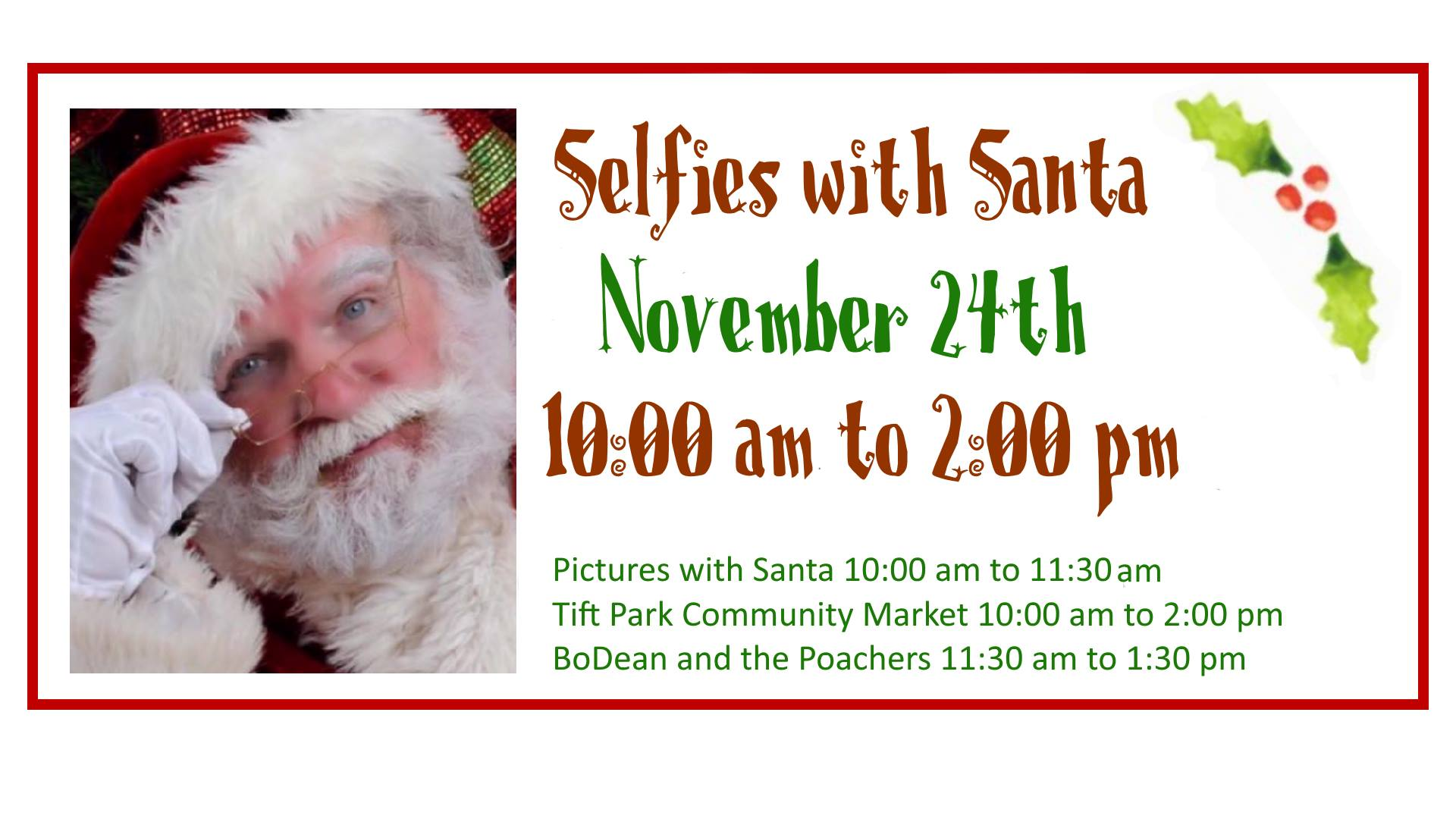 Selfies with Santa