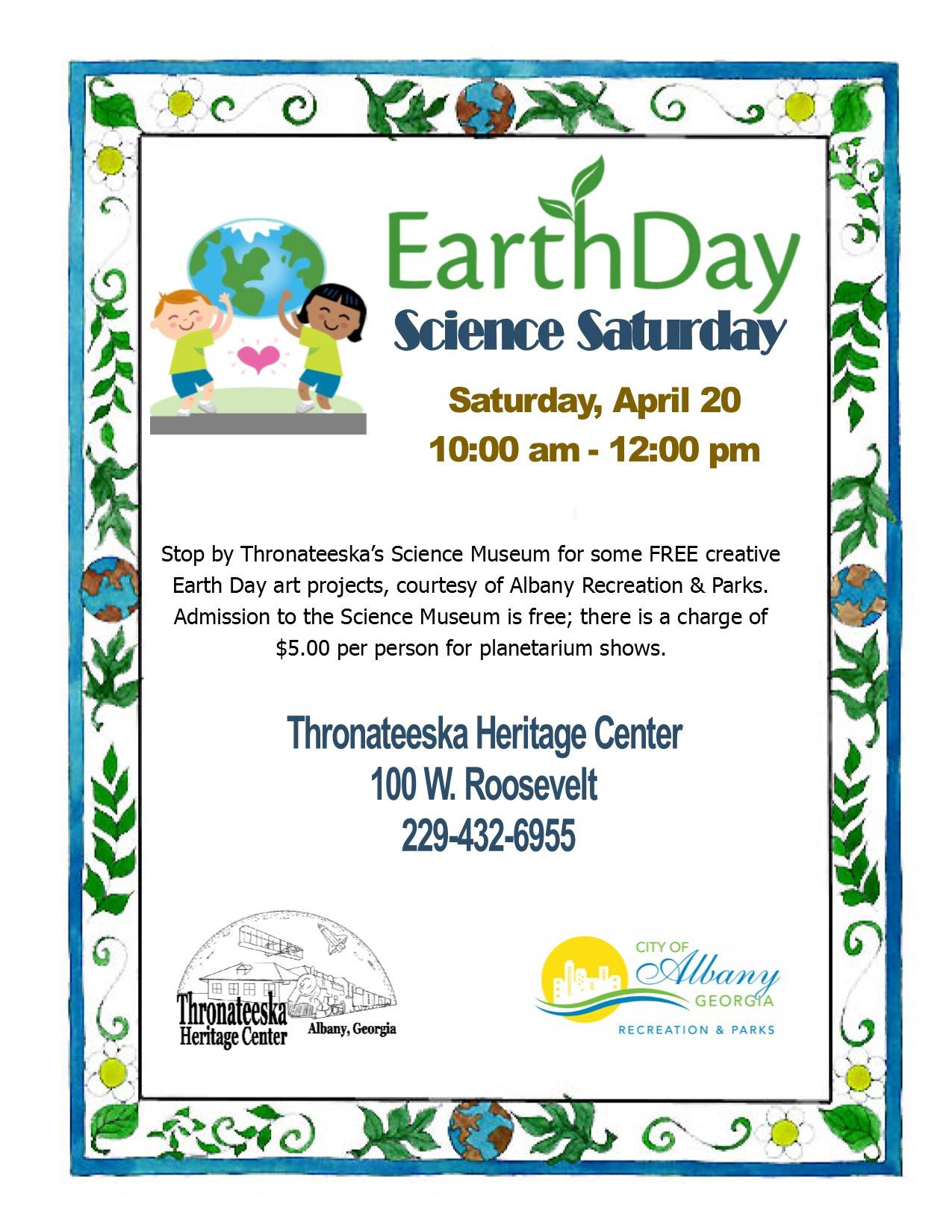 Earth Day Science Saturday
