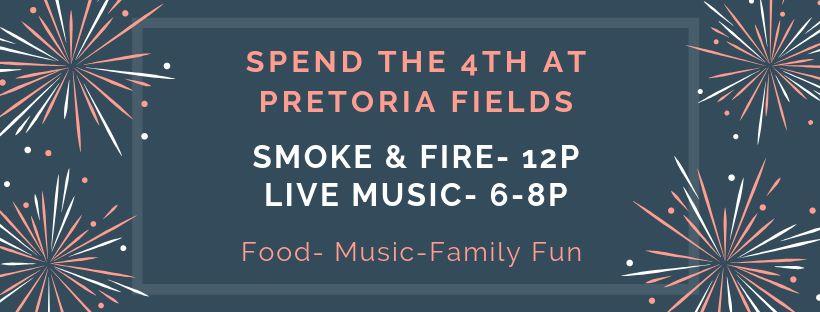 July 4 Celebration at Pretoria Fields
