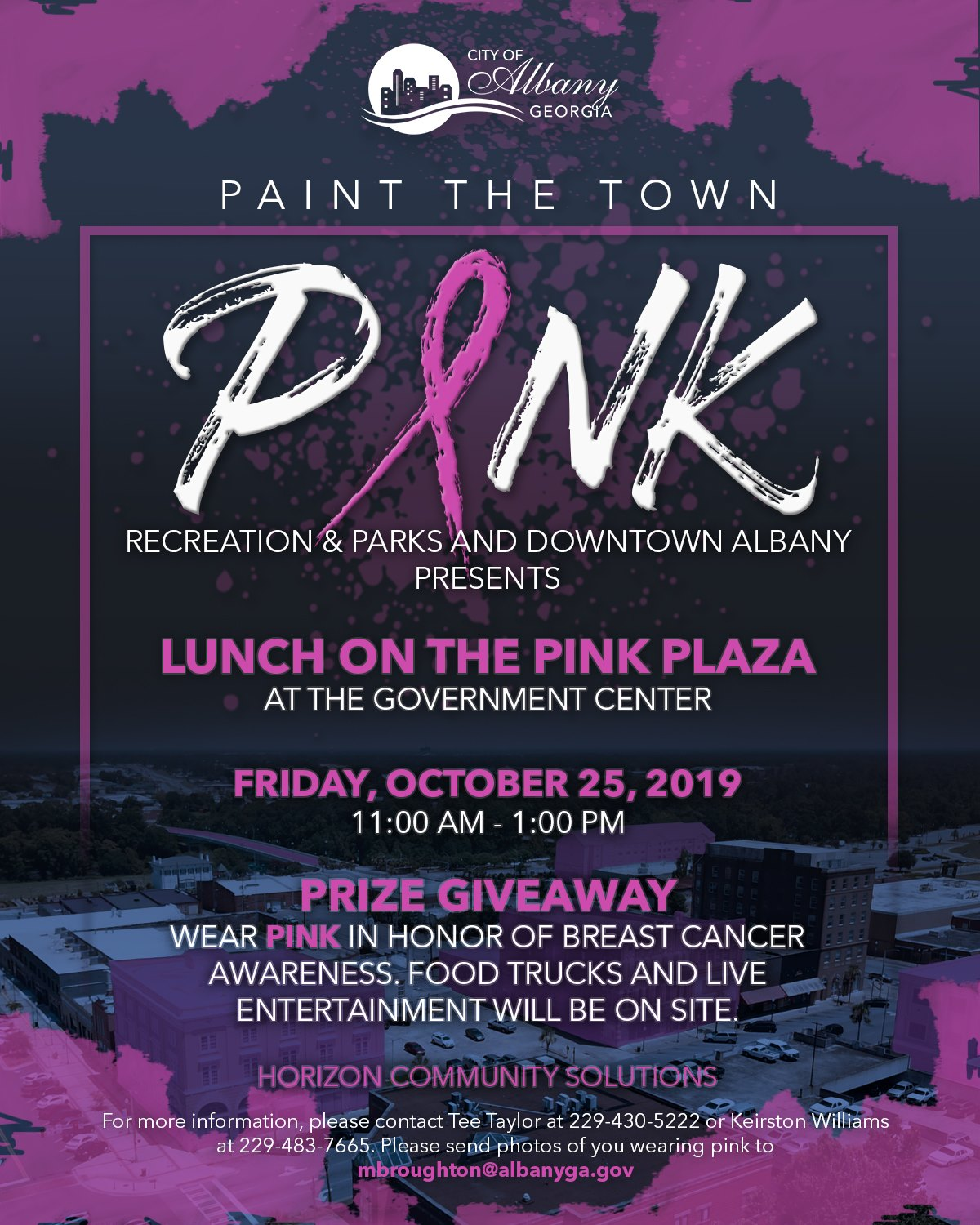 Paint the Town Pink: Lunch on the Pink Plaza
