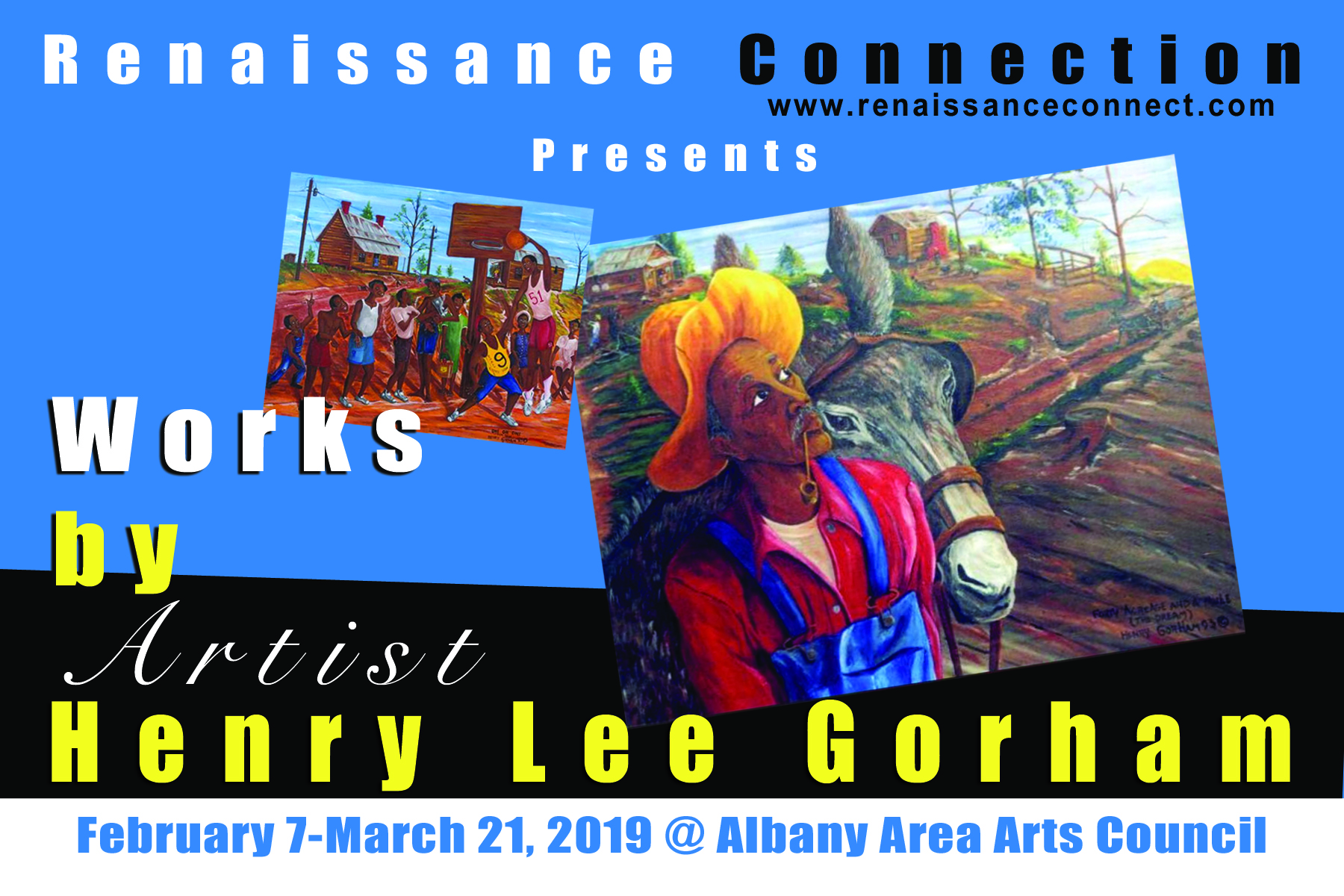 "Renaissance Connection, Inc. presents ""Works by Artist Henry Lee Gorham"" Exhibition"