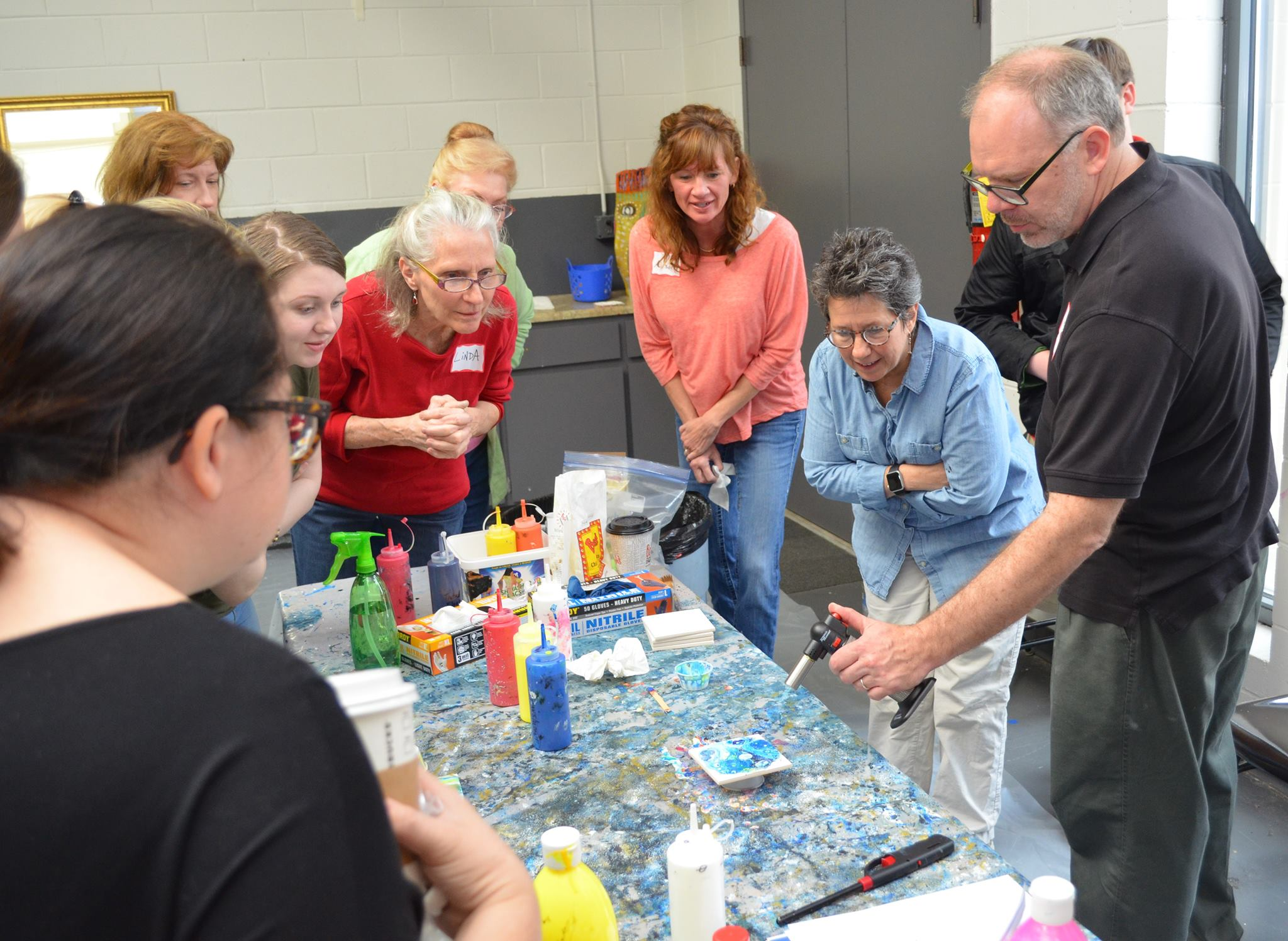 Acrylic Pouring Art Workshops
