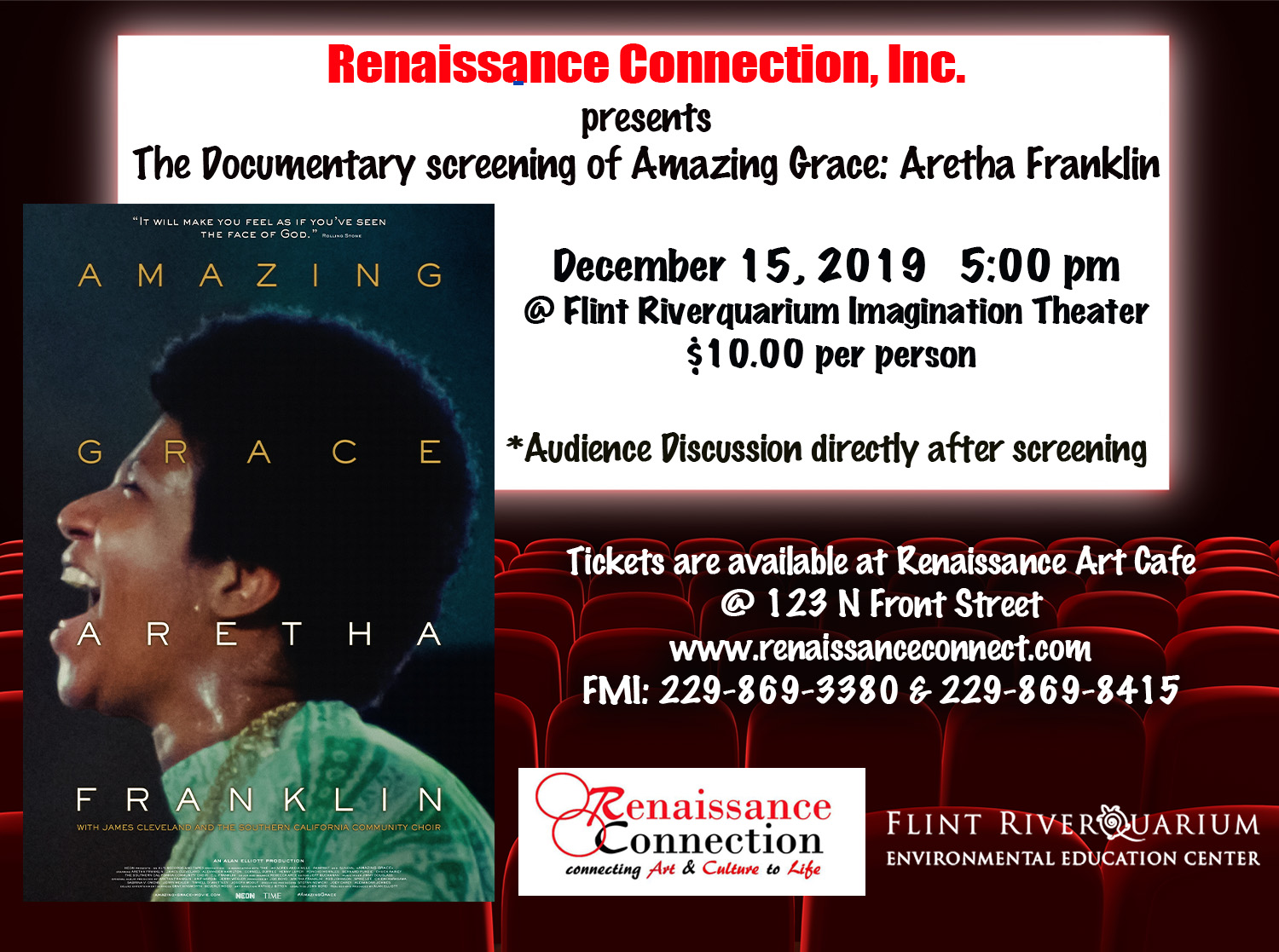 Documentary Screening of Amazing Grace: Aretha Franklin
