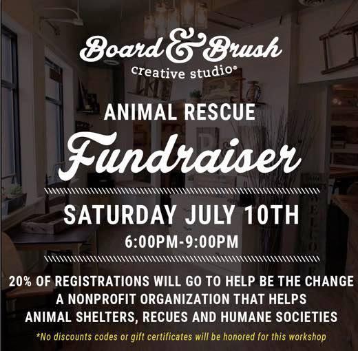 Board & Brush Animal Rescue Fundraiser