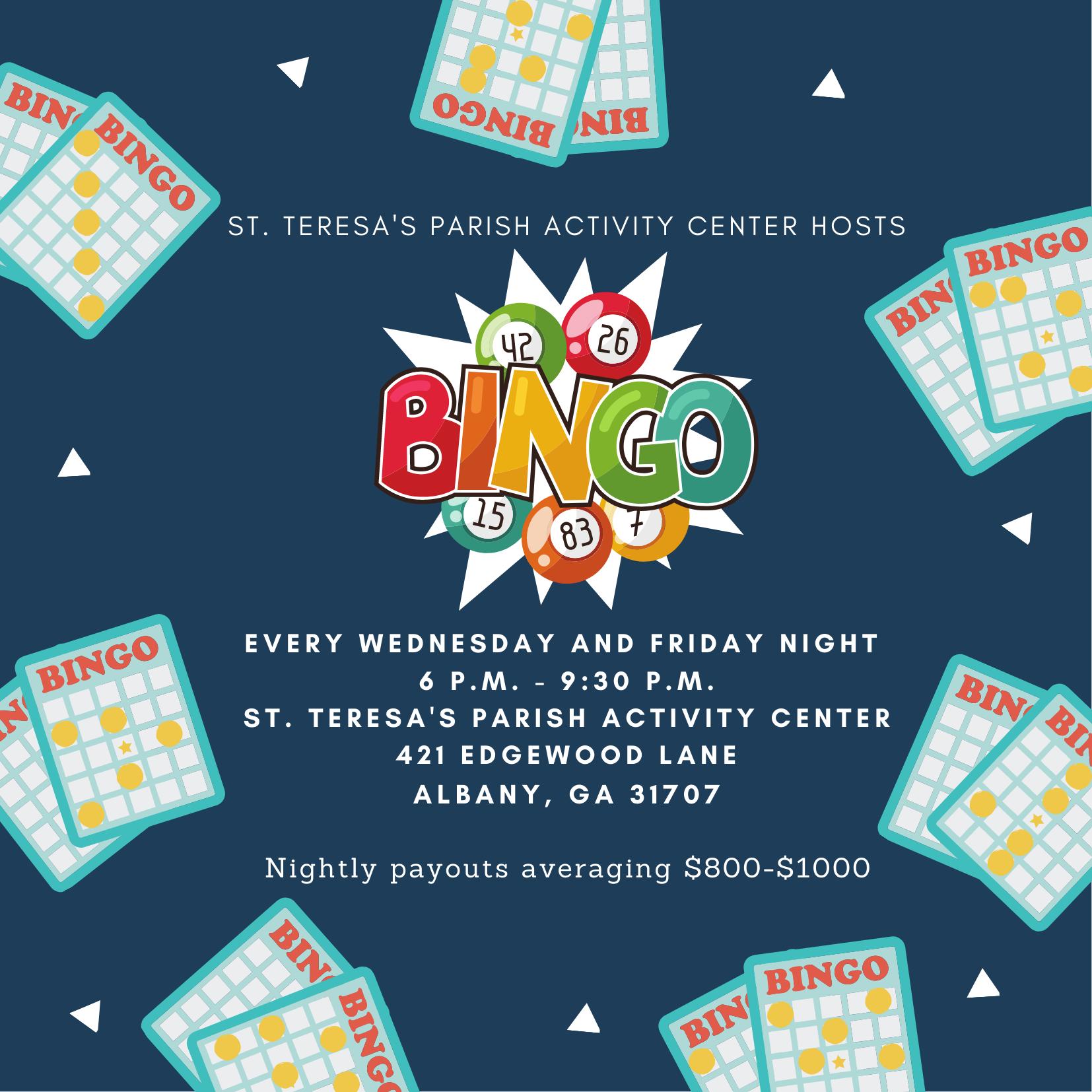 Bingo Night at St. Teresa's Parish