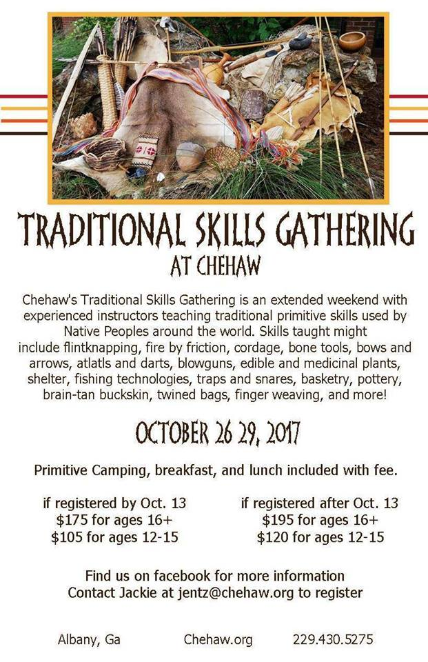 Traditional Skills Gathering at Chehaw