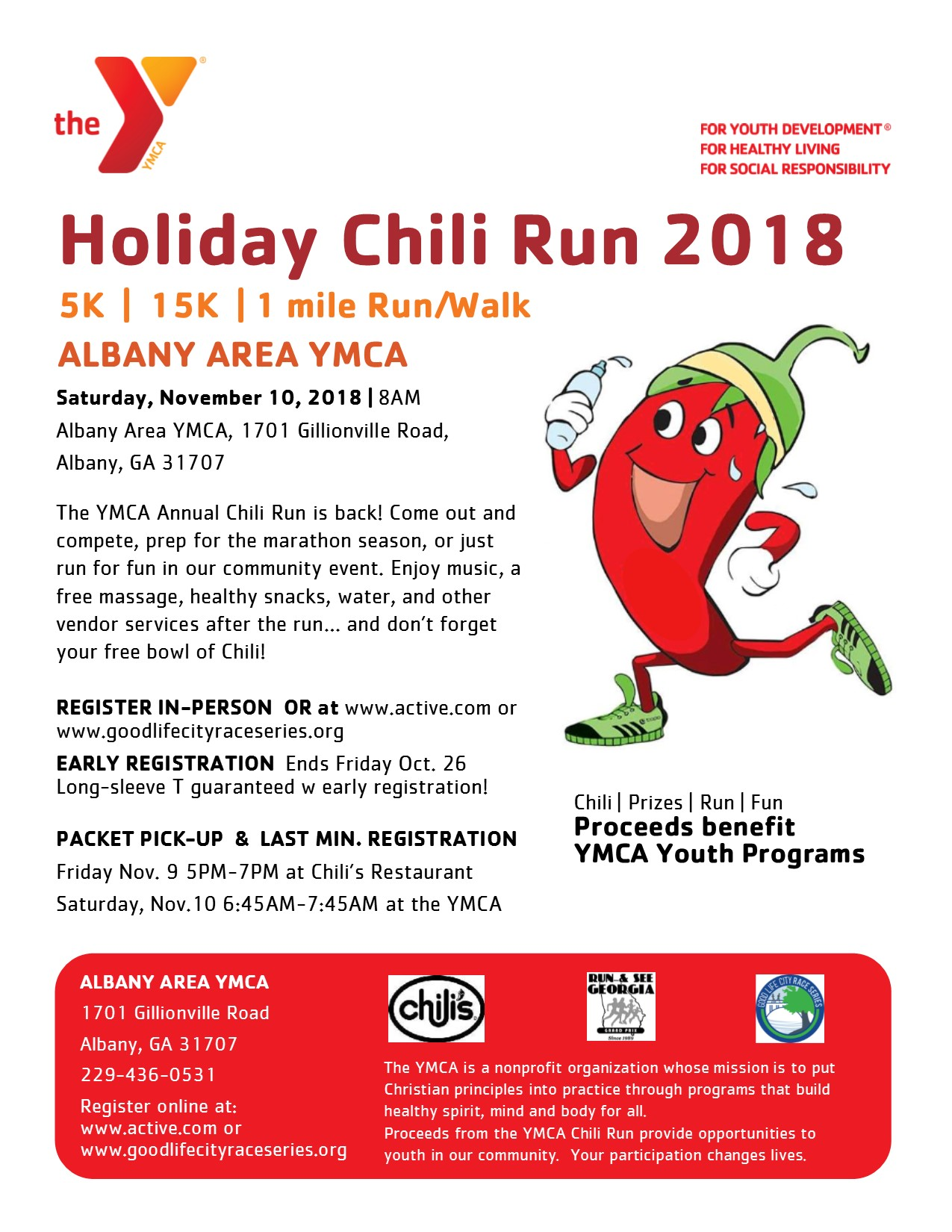 YMCA Holiday Chili Run