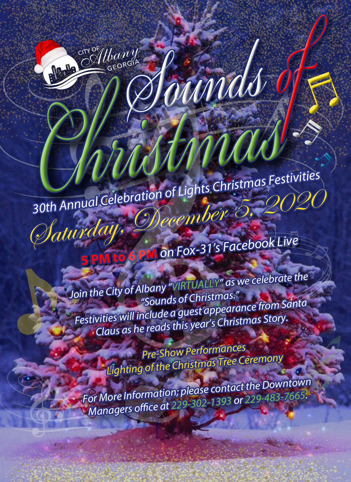 Virtual Sounds of Christmas Pre Show & Lighting of the Christmas Tree
