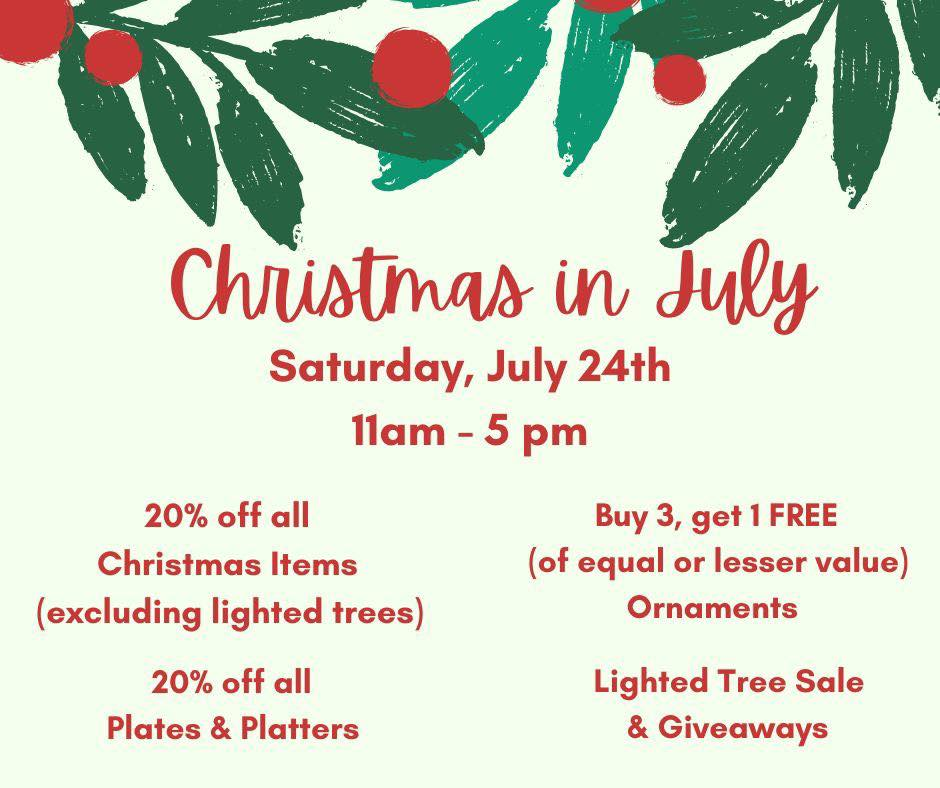Christmas In July- The Clay Spot