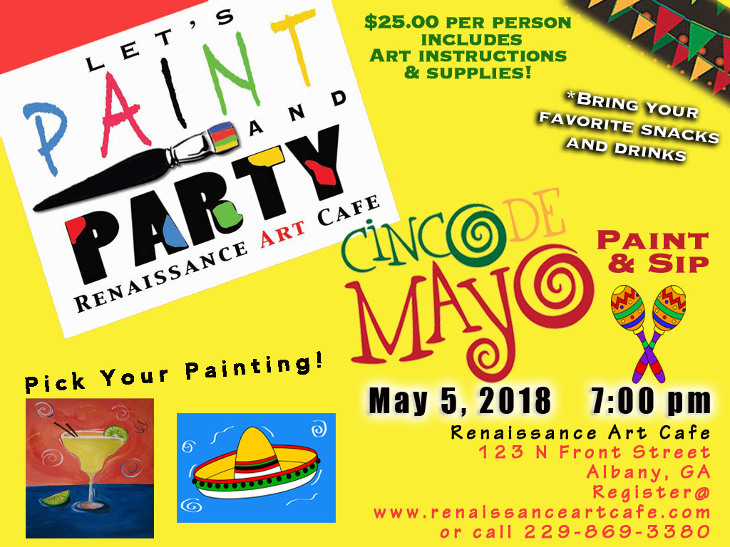 RAC's Let's Paint & Party Cinco De Mayo Style!