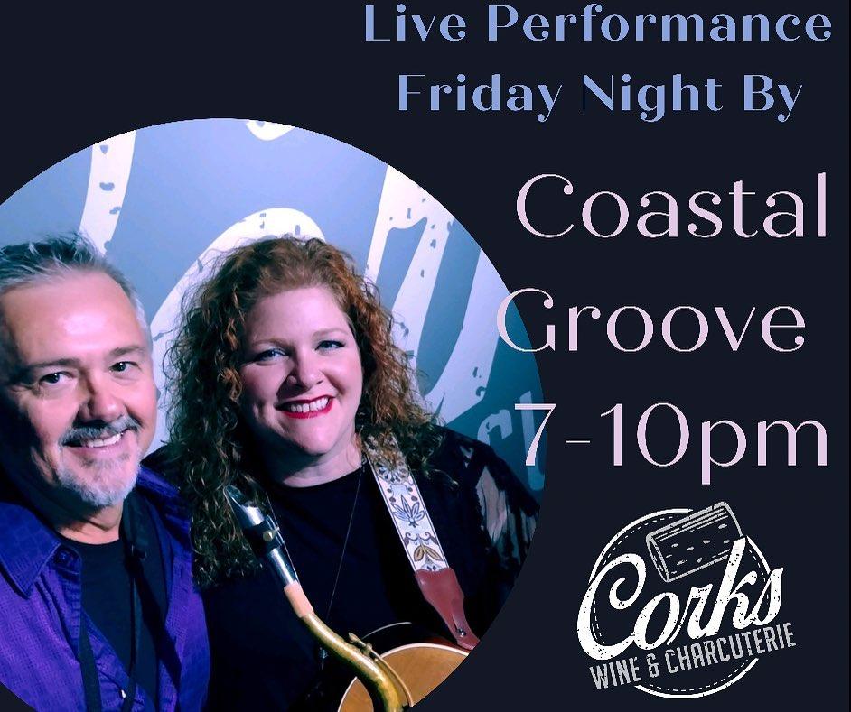 Coastal Groove Live at Corks Wine & Charcuterie
