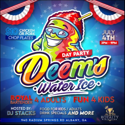 Deem's Water Ice Day Party