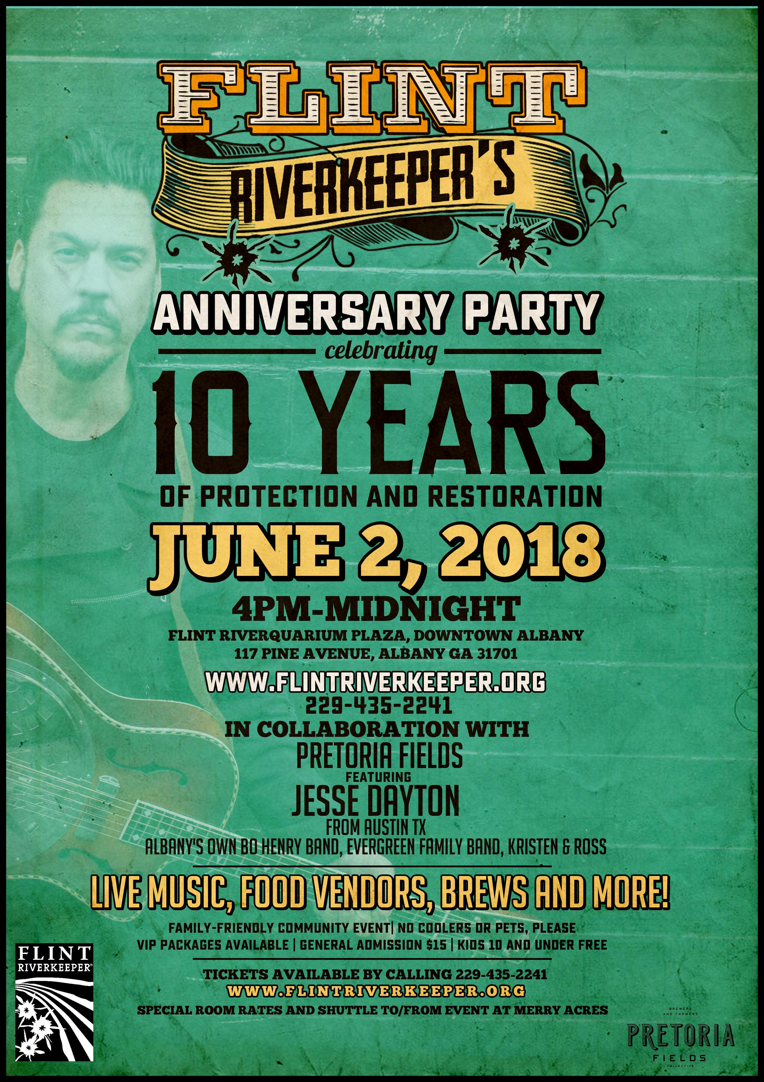 Flint Riverkeeper Anniversay Party