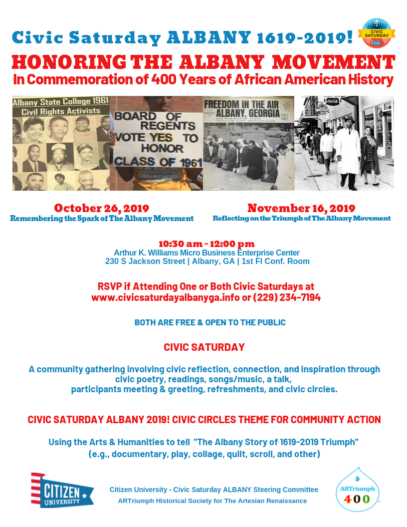 Civic Saturday ALBANY 1619-2019! Honoring The Albany Movement