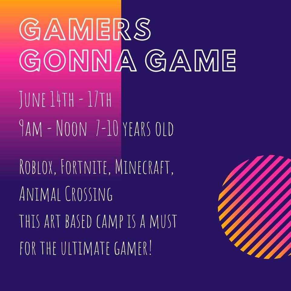 Gamers Gonna Game Art Camp