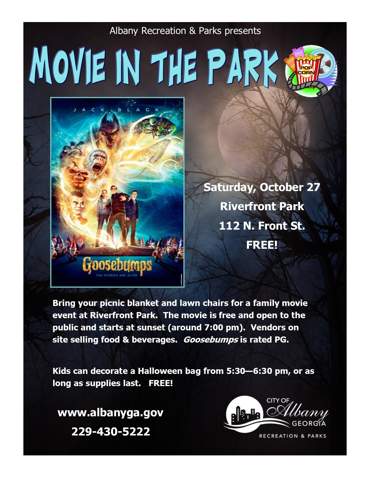 Goosebumps: Movie in the Park