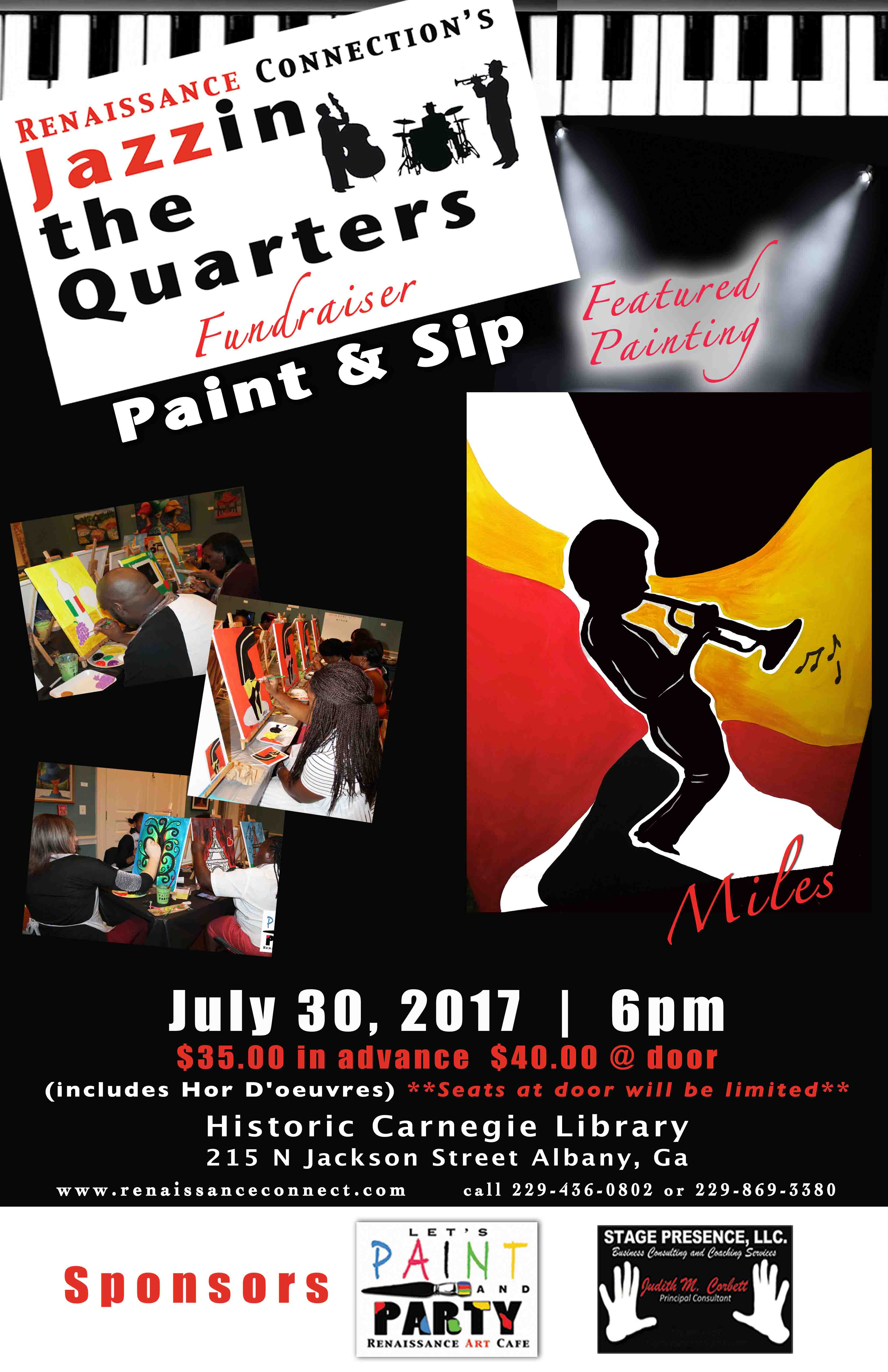 Jazzin the Quarters Paint & Sip Fundraiser