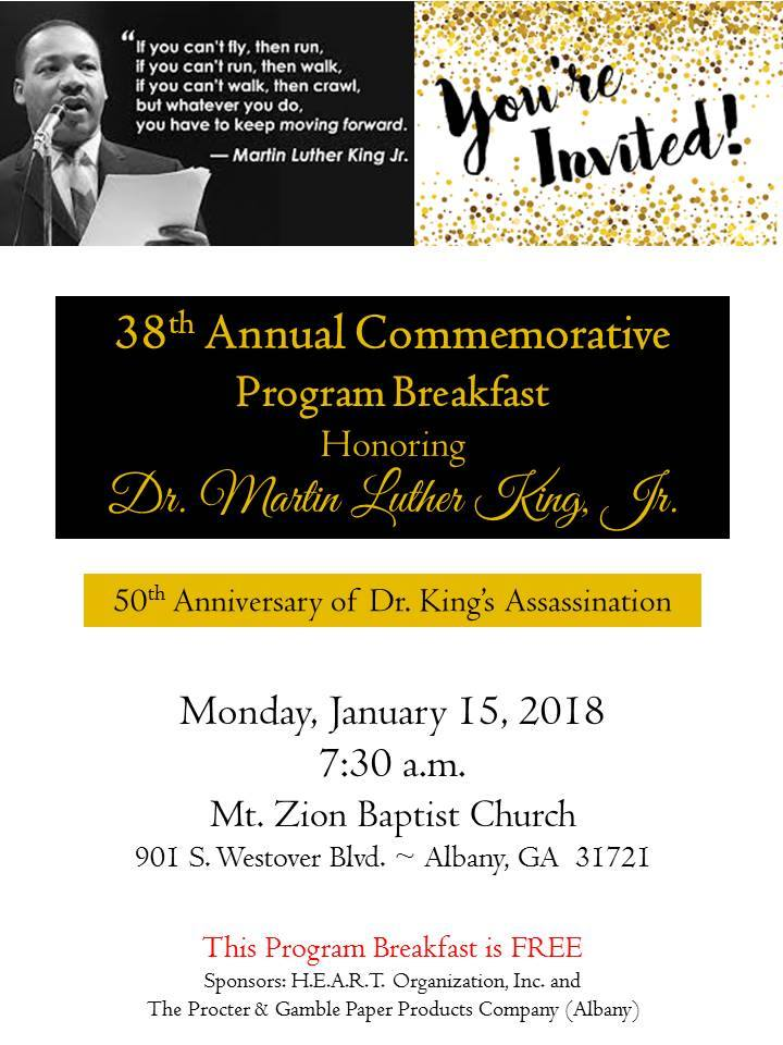 Dr. MLK Program Breakfast
