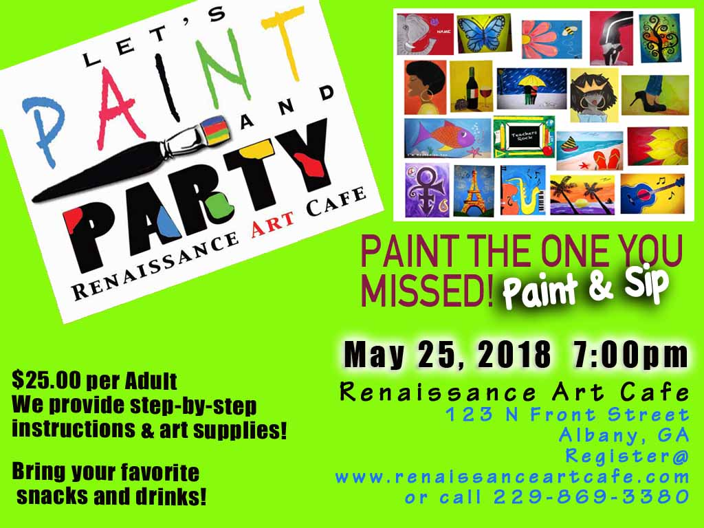 RAC's Let's PAINT and PARTY Paint the One You Missed!