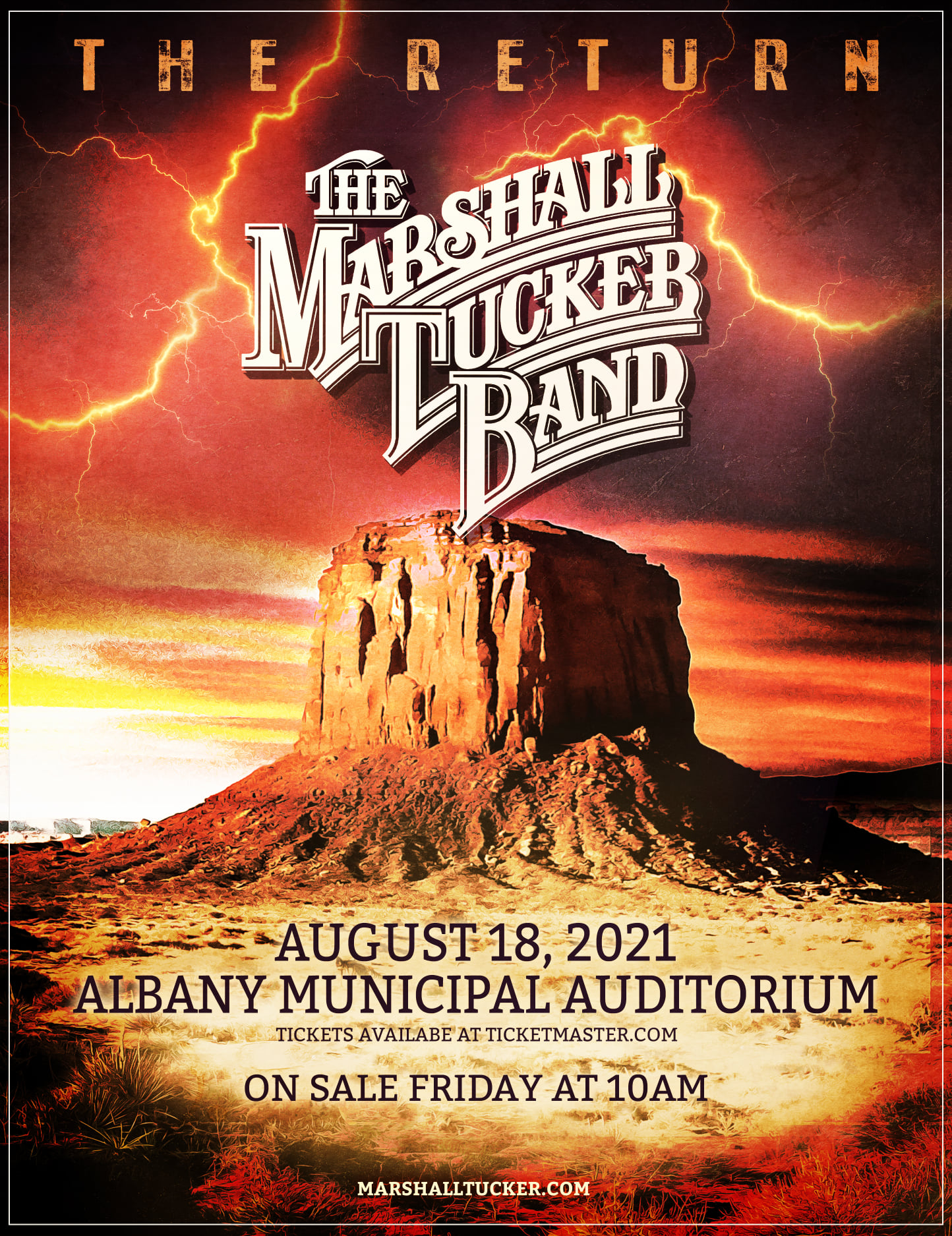 The Marshall Tucker Band Returns To Albany Municipal Auditorium In Albany GA On August 18