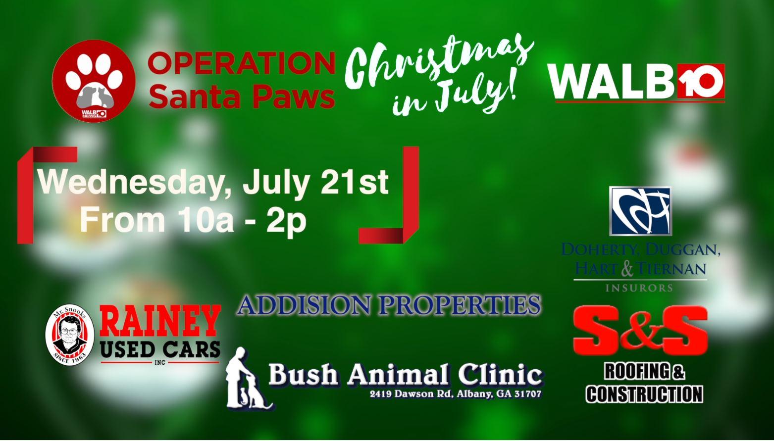 Santa Paws Christmas in July