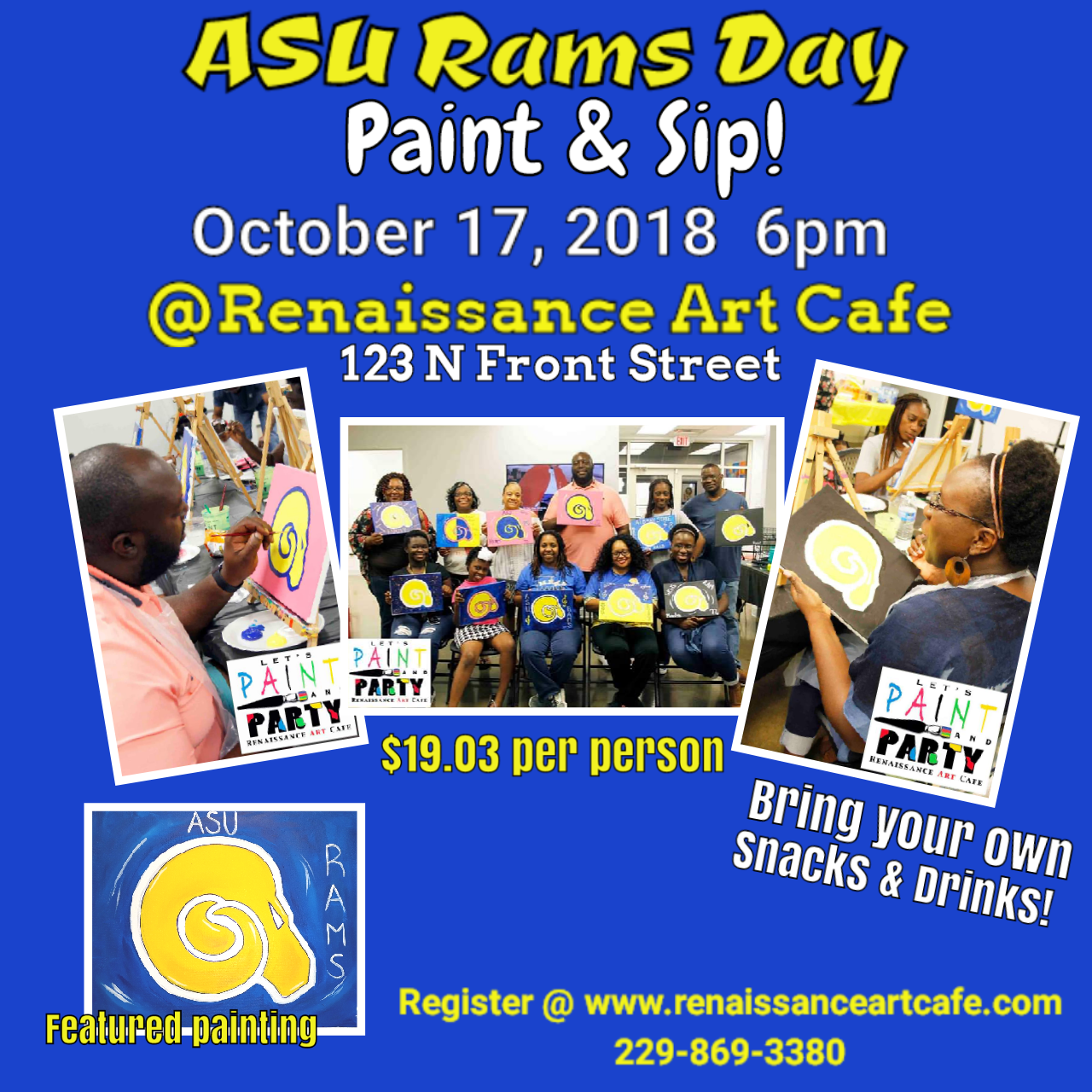 Paint and Sip: ASU Rams Day