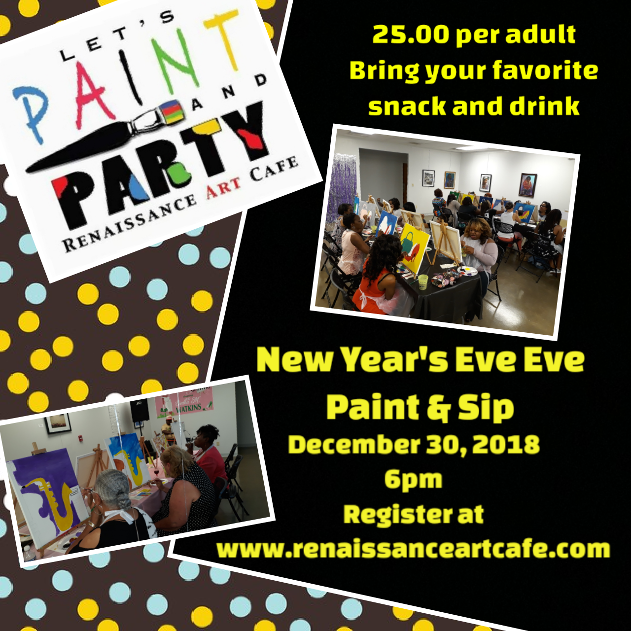 New Years Eve Paint and Sip
