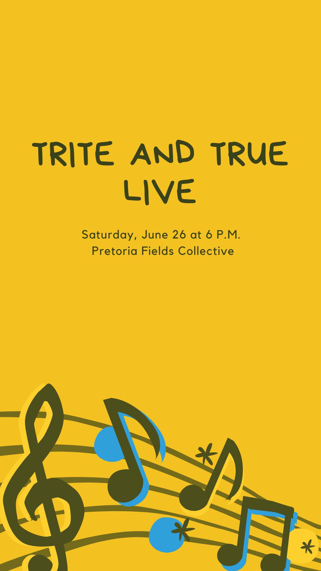 Live Music at Pretoria Fields by Trite and True