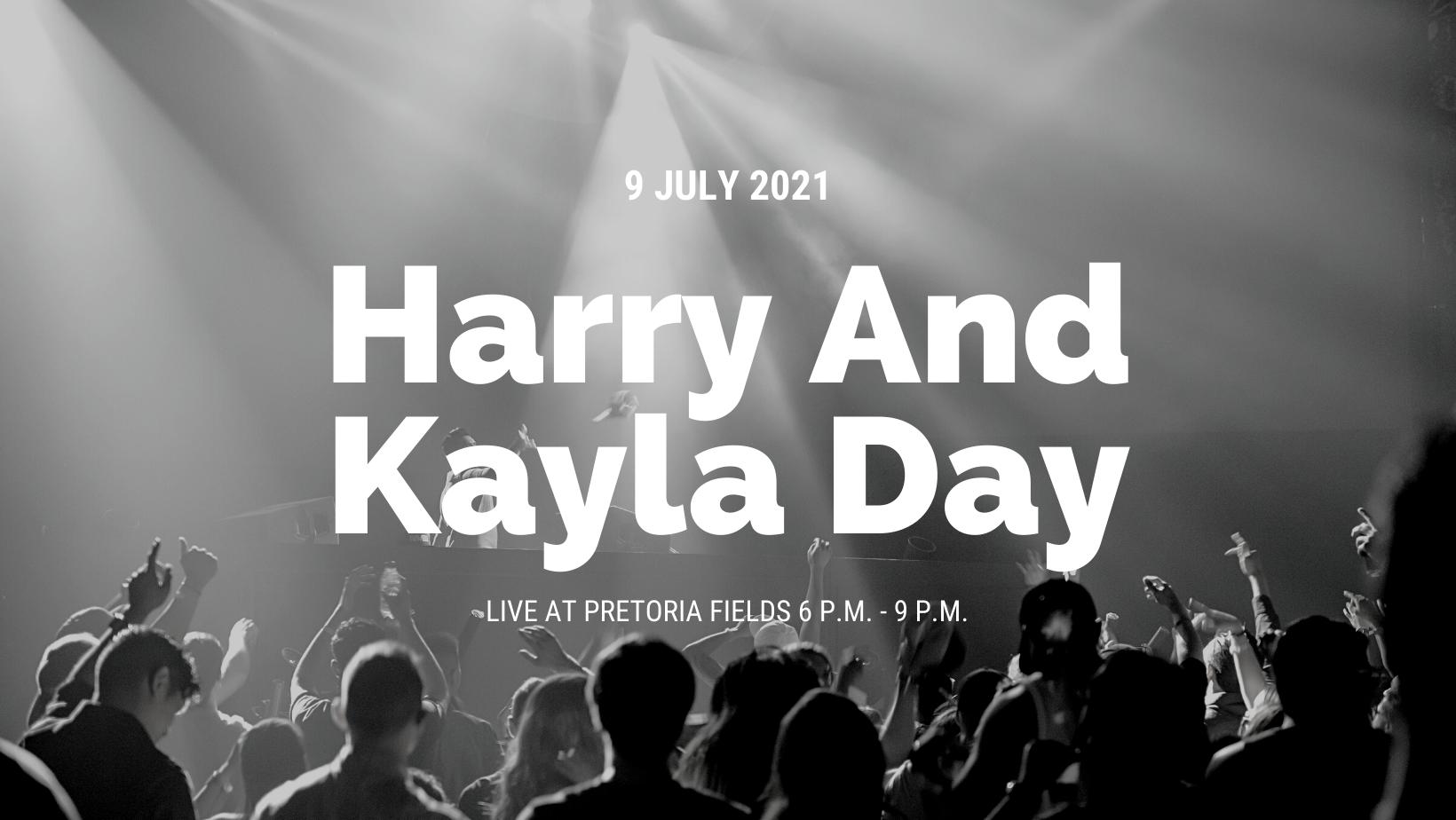 Harry and Kayla Day Live at Pretoria Fields