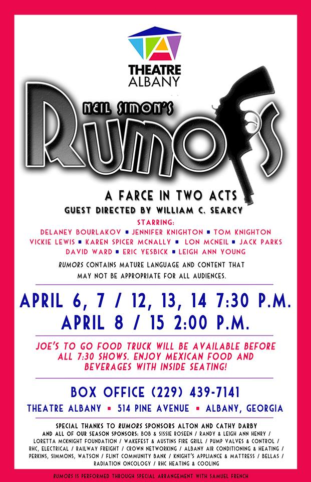 Neil Simon's Rumors: A Farce in Two Acts