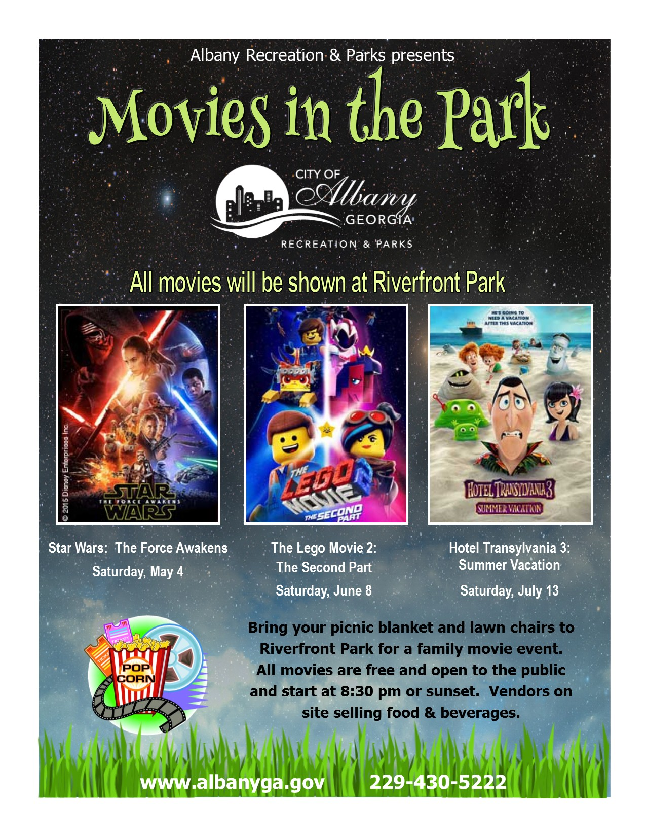 Movies in the Park: Hotel Transylvania 3: Summer Vacation