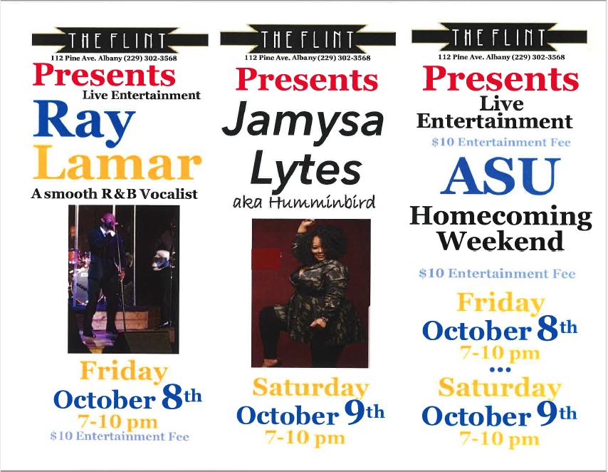 The Flint Live Music Weekend Lineup