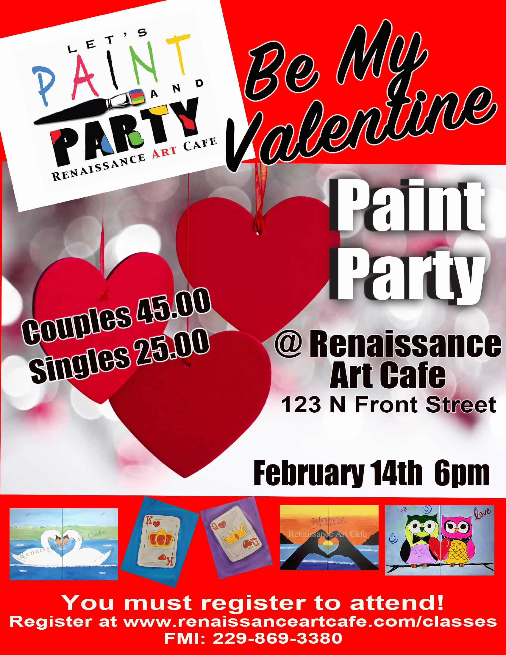 Be My Valentine Paint Party