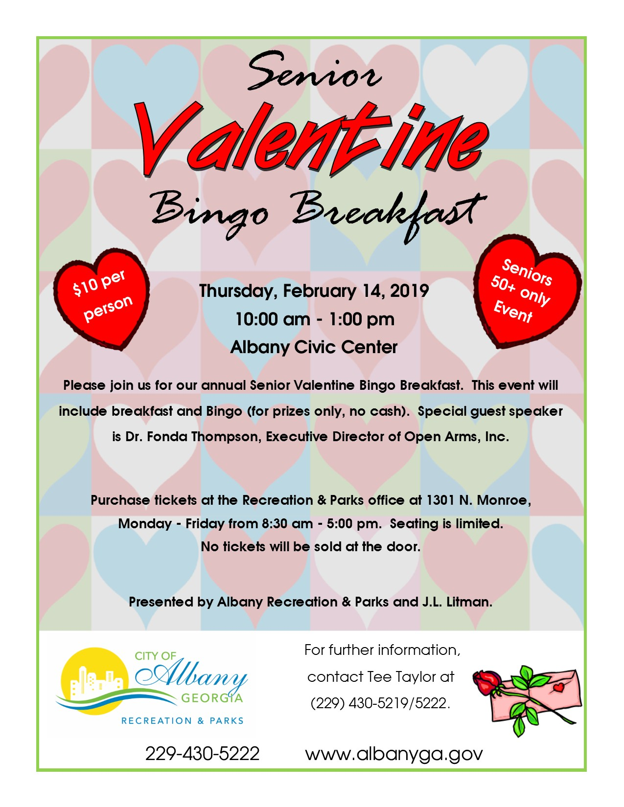 Senior Valentine Bingo Breakfast