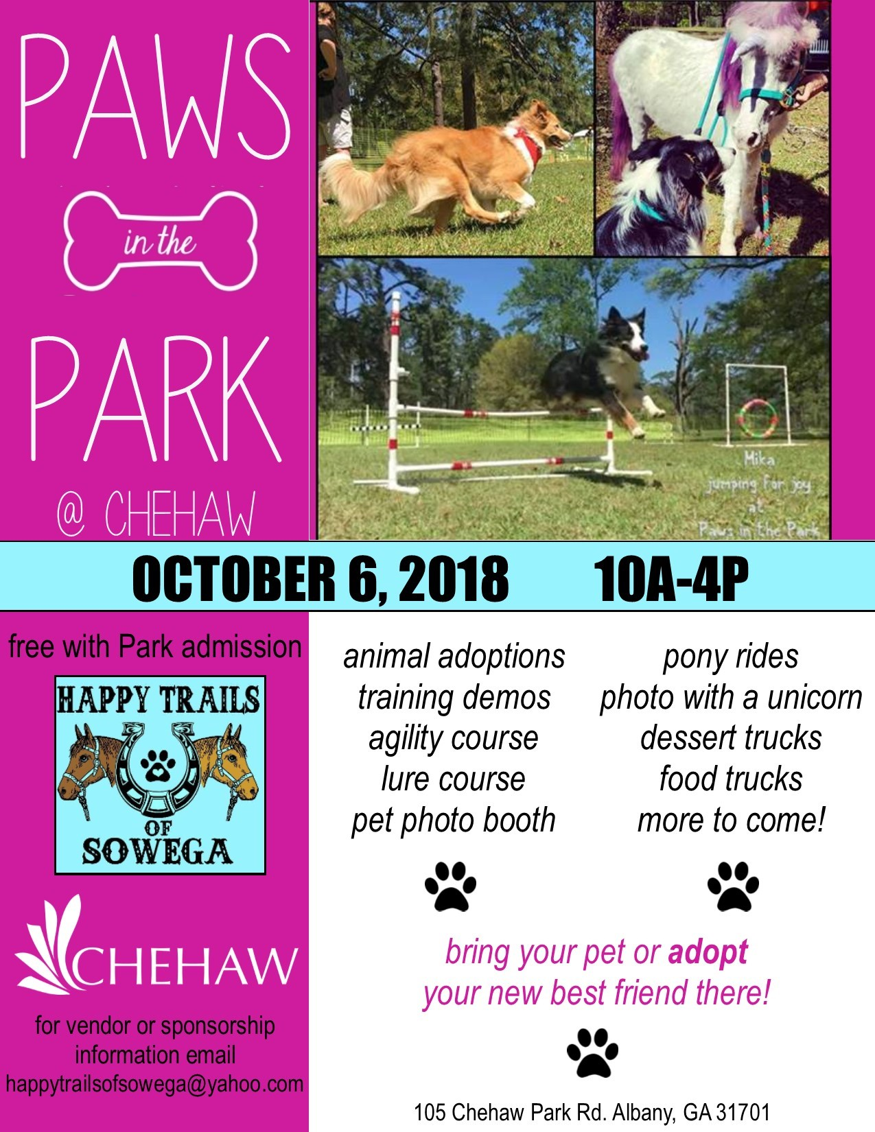 Paws in the Park | Calendar | Visit Albany Georgia | Albany