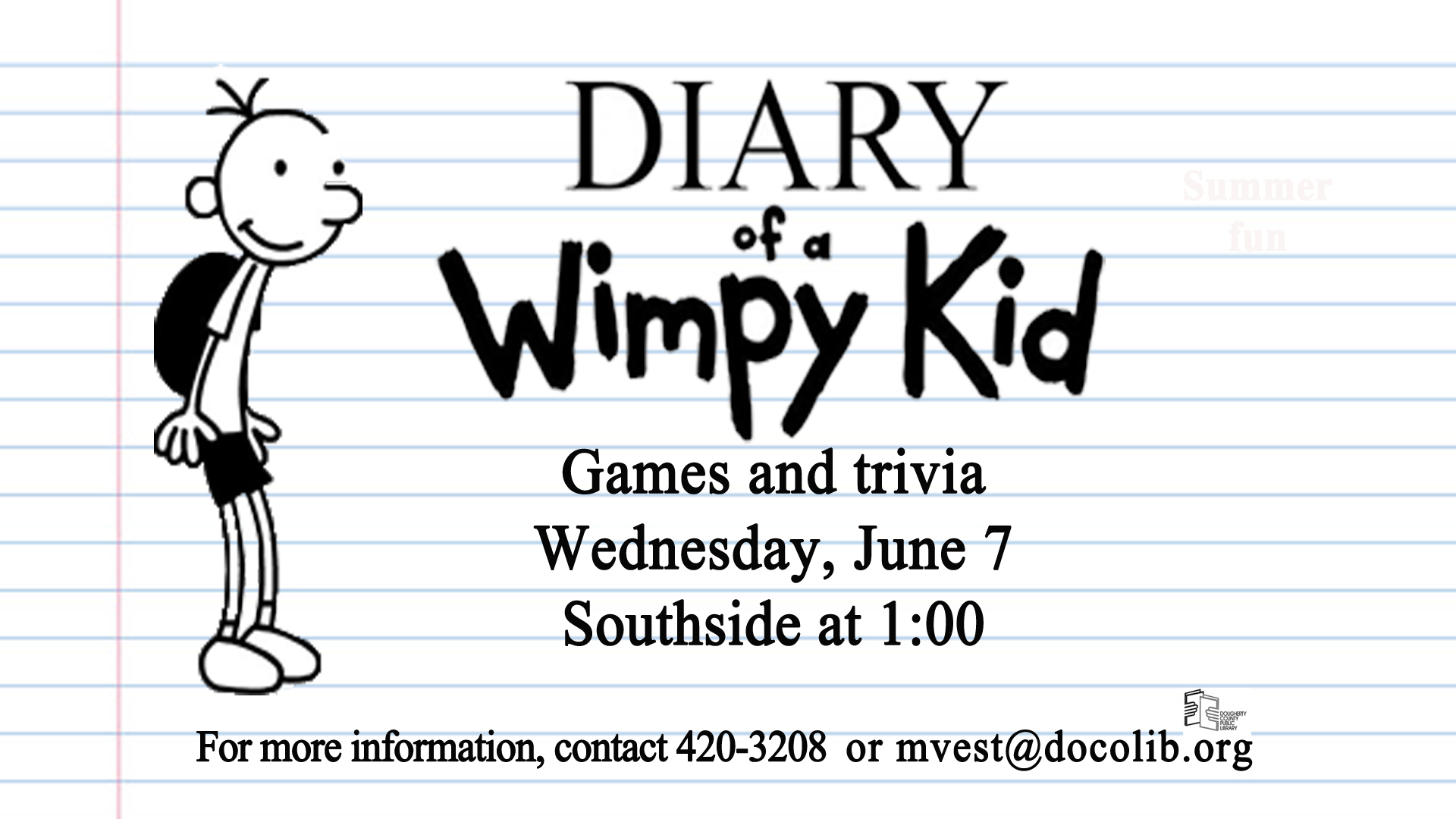 Diary Of A Wimpy Kid Event Calendar Visit Albany Georgia