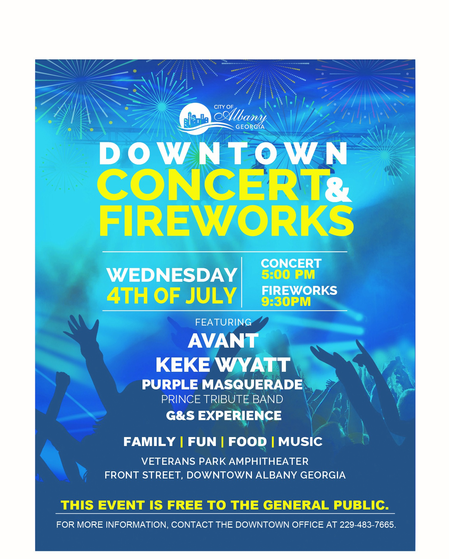 Downtown Concert and Fireworks