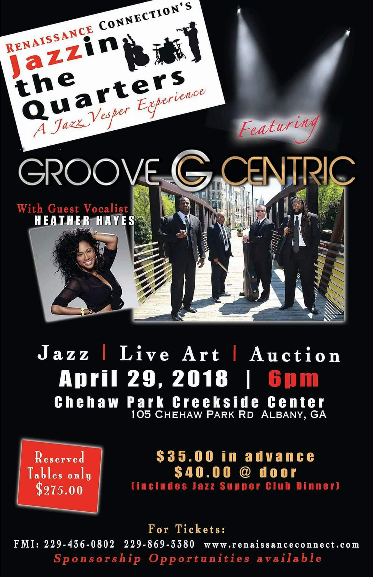 Jazzin the Quarters: Spring Edition with Groove Centric Band