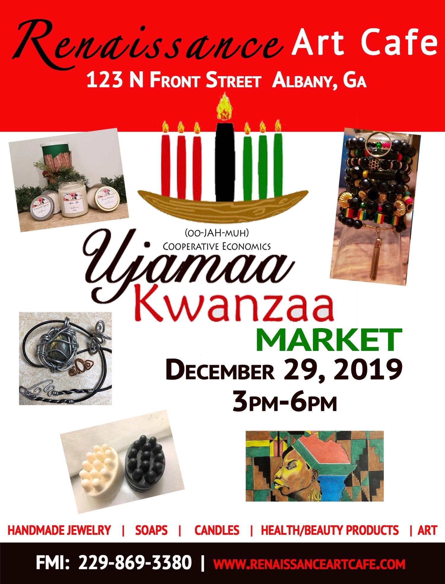 Renaissance Art Cafe's Ujamaa Kwanzaa Market!
